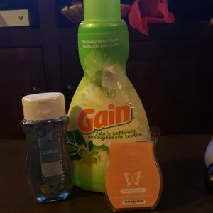 Scentsy body wash, scentsy wax & gain